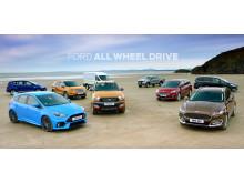 Alle Fords modeller med AWD