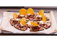 Knäckepizza - Tacoknäckepizza