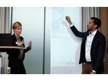 Madeleine Eneskjöld och Robin Svensén från Tyréns presenterar rapporten Marknadsanalys Rosenkraft