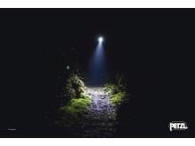 Ljusstark lampa visar vägen