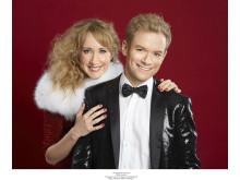 """""""Julen är här"""" på turné 2014. Matilda Grün, Peter Johansson"""