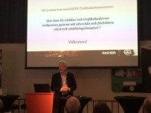 Magnus Granström presenterar på Transportforum