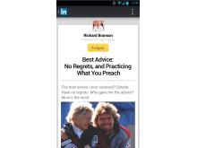 Screenshot LinkedIn Android Reader