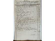Part of the costume-inventories and accounts for Orlando Paladino in 1782 in Eszterhaza