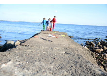 Krabbfiske på barnkollot i Magnarp