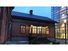 """""""Röda villan"""" på Kungl. Musikhögskolans campus: ny hemvist för inkubatorn Amplify."""