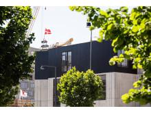 Kasseret træ fra Dinesen gulve bruges på bl.a. facader i Upcycle Studios