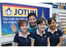 Fra en Jotun-forhandler i Vietnam. Foto: Jotun/Svein Brimi