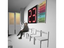 Väntrum. Illustration till utställningsförslaget Tro, hopp och hälsa