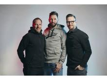 Mattias Andersson, Tobias Karlsson och Thomas Nord