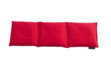 Tredelad värmekudde i röd ekobomull