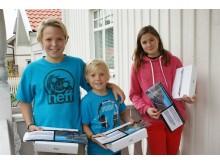 Hugo, Otto och Filippa vann NCC:s Minecraft-tävling i Sigtuna