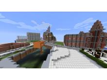 Ett nytt Stora Essingen i en Minecraftvärld