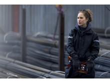 1207 AllroundWork, Softshell jakke for kvinner, navy, miljøbilde