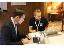 Stefan och Jacob at the 2014 Platform Summit