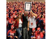 Den största samlingen människor klädda som Spider-Man.