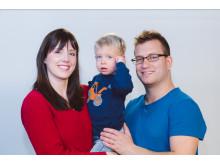 Anja Landshoeft (32) mit ihrer Familie