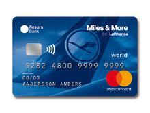 Resurs Bank lanserar kreditkort tillsammans med Lufthansas Miles & More