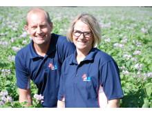 Janne och Ann Eriksson från Snöborg gård. Nominerade till Årets klimatbonde