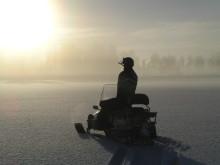 Snøscooter i Värmland Foto Fredros Gård