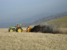 Spridning av kompost i Kalifornien