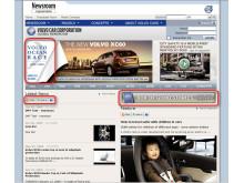 "Screenshot - news on Volvo Cars Newsroom ""Box of good stories"" 2008"