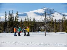 Fika tillsammans i längdspåren - Cross-country Skiing in Åre