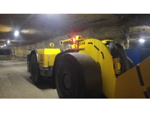 An Atlas Copco ST Tram loader