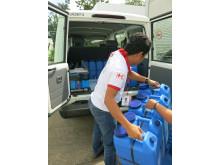 Filippinska Röda Korset förbereder katastrofinsats
