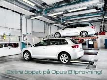 Extra öppet på Opus Bilprovning