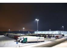 Fugleåsen fredag kveld - 112 lastebiler parkert