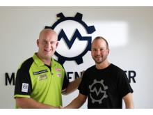 Thorsten Muschler und Michael van Gerwen