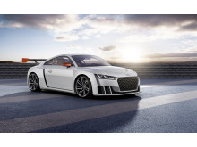 Audi TT clubsport turbo silver grey front right side