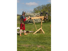 Romersk soldat fra den danske reenactment-gruppe Cohors II Cimbria