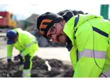 Arkeologer går igenom massorna från Slussen
