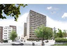 Strängbetong levererar TermoDeck till kvarteret Gladan, lågenergihus i Stadshagen