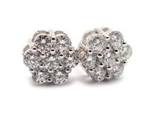 Julklappsauktion 21/12, Nr: 452, ÖRHÄNGEN, 18K vitguld, 14 briljantslipade diamanter