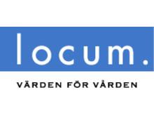 Locums logotyp; blå i jpg-format