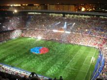 Stämningen på Camp Nou under en fortbollsmatch är otrolig