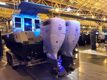 High res image - Cox Powertrain - CXO300 on Metal Shark at IWBS 2018