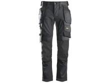 6241 AllroundWork, Stretch Arbeidsbukse med hylsterlommer, grå