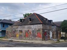 Den övergivna byggnaden innan Candy Changs idé, New Orleans, USA. Foto: Civic Center