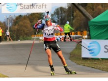 Lars Helge jaktstart NM rulleskiskyting