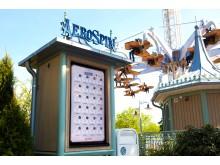 AeroSpin - scoreboard och attraktion