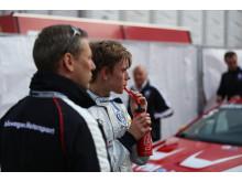 Simon Larsson race 1 på Hockenheim VW Scirocco R-Cup 2014