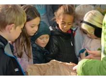 Barna fulgte ivrig med da Honorata Gaida fra Norsk botanisk forening fortalte om frøene.