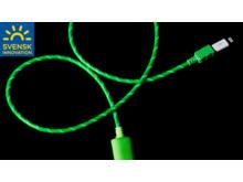 USB-kabel med synlig ström