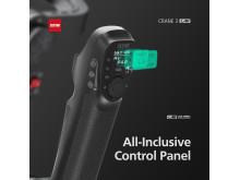 Zhiyun Crane 3 LAB 3 control panel