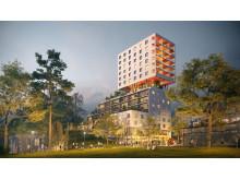 Multifunktionellt höghus ska göra Hagsätra tryggare