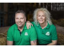 Magnus och Lena, Nibble gårdsgris, vinnare i Årets klimatbonde